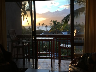 Sunset view from our lanai!