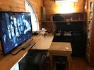 """32"""" TV/ DVD(no cable) and Functional kitchenette with 1930's stove and mini frig"""
