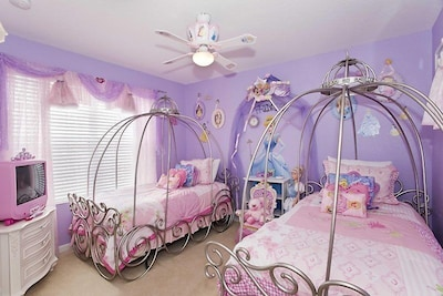 Princess room with princess dresses