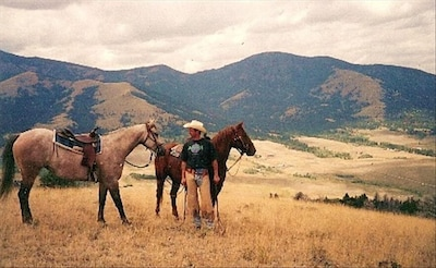 Take a scenic horseback ride with amazing mountain views!