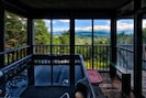 Fantastic views while relaxing in the hot tub on the back porch.