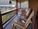 porch rockers and pavilion