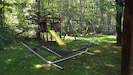 Play area and hammock