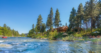 The Wenatchee River is your front yard.  Rafters delight rolling down the river.