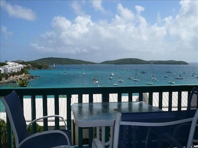 View from the deck toward Great St. James Island
