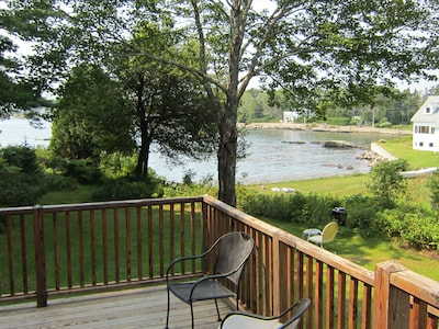 Daytime views from the back door of the Water's Edge home.