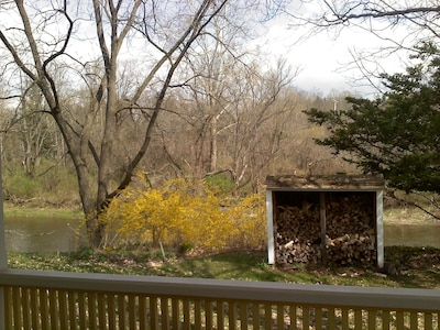 March View of Fall Creek from wraparound porch