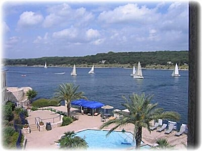 Sail,jet ski, water ski, fish, relax, float. Lake is full and beautiful
