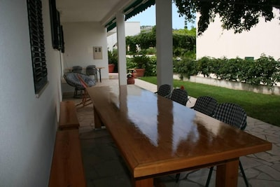 Terrace in front of the house
