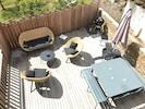 Terrasse avec barbecue Weber