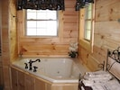 Enjoy a late evening bath and relax in the jetted tub!