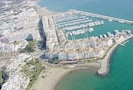 Aerial view. Apatment is IN THE PORT No taxis needed!!