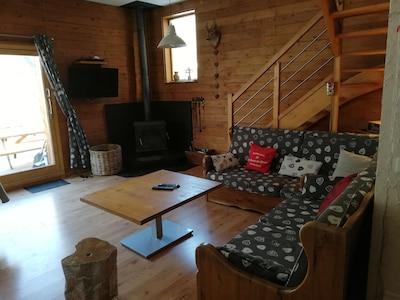 Salon avec 2 canapés