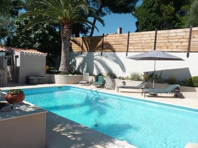 piscine, plage et tansats