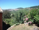 View of the countryside and the historic town of Grasse