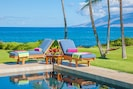 Wailea Sunset Estate's Picture Perfect Ocean Side Pool & Property!