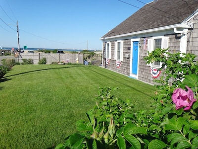 street side of house with ocean to left side