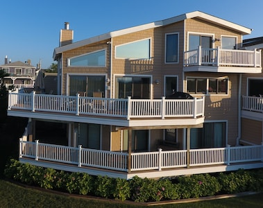 Enjoy the ocean view while dining on the wrap around deck.