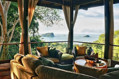 The view you have from the top of the home is perfect for afternoon coffee time.
