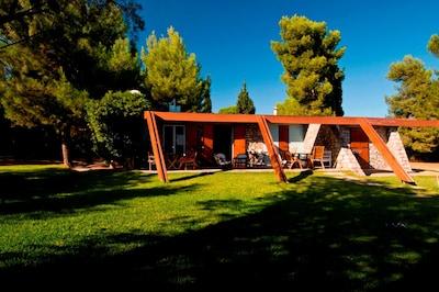 Unique beachfront villa, designed by famous Greek architect Takis Zenetos