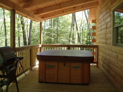 Private Hot Tub And Gas Grill on Outside Deck