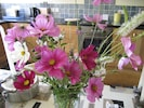 Fresh flowers from the garden in nearly every room of the cottage