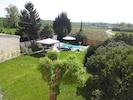 Panoramablick in den Garten und die Weinberge