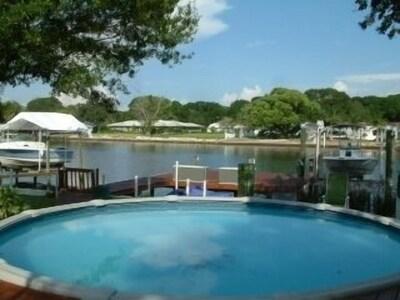 Sparkling Pool overlooks Panoramic River Views