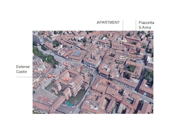 Apartment from Google Earth  in the full center of the Town near Estense Castle