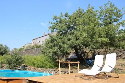 La piscine relax de 6 metres pour quatre