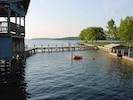 Private swiming harbor with Gazebo for great views or have fun jumping off.