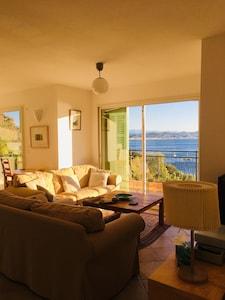 Appartement de luxe, vue superbe sur la baie de Cannes