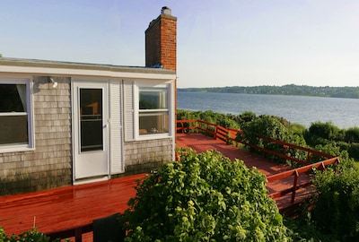 The house is right  on Sakonnet River.