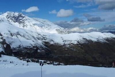 vue sur la vallée en hiver