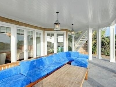 Downstairs patio