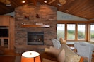 Great room with propane fireplace!   Flip a switch on the wall.