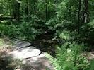 Stone bridge over brook