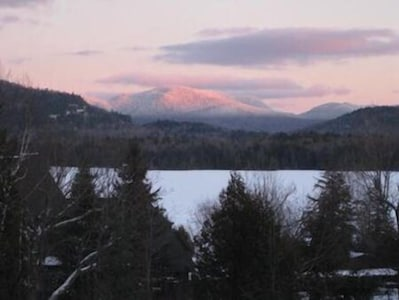 A gorgeous sunset over Lake Placid and the mountains!