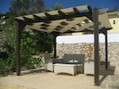 pergola by the pool