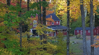View of Barn in Fall