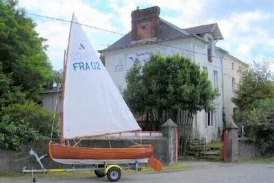 Une ancienne villa nantaise de bord de Loire où 400 bateaux ont vu le jour.