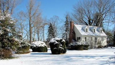 Another view of the Cottage on a sparkling winter day.