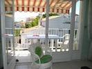 balcon équipé pour repas