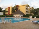 Relax pool side between adventures!