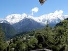 Massif du Mont Blanc ! photo prise sur le balcon du chalet