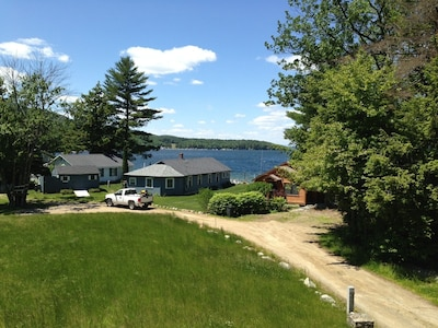 View from the camp porch over the neighbor's cottages.