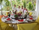 Our dedicated staff with elegant place settings and service.