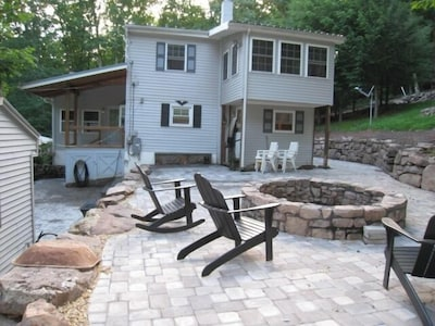 Outdoor Patio & Fire Pit, House Total Re-Habed (this photo old, new comming soon