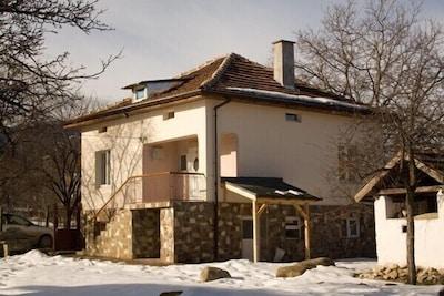 Mavrud Lodge in the snow
