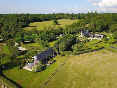 Property overview July 2018 : la Vie de Cocagne and our house at the back